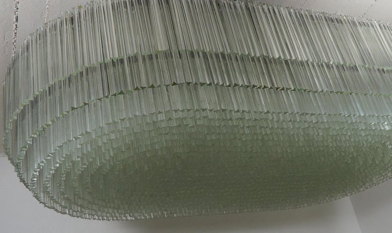 Monumental 70-Light Oval Murano Glass Chandelier, circa 1960s For Sale 8