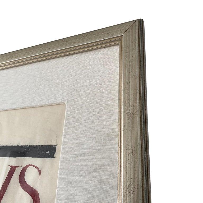 Monumental Framed Woodcut by Leonard Baskin