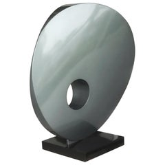 Monumental Abstract Modern Round Steel Sculpture