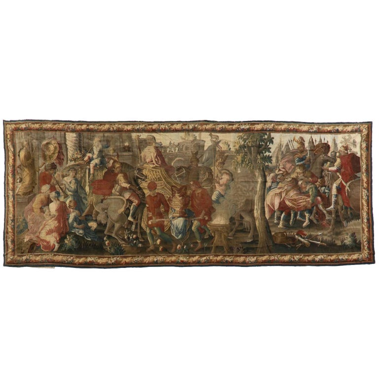 """Monumental """"Alexander the Great"""" Tapestry"""