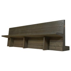 Monumental and Minimalist Pine Wood Church Bench by Dom Hans van der Laan, 1964
