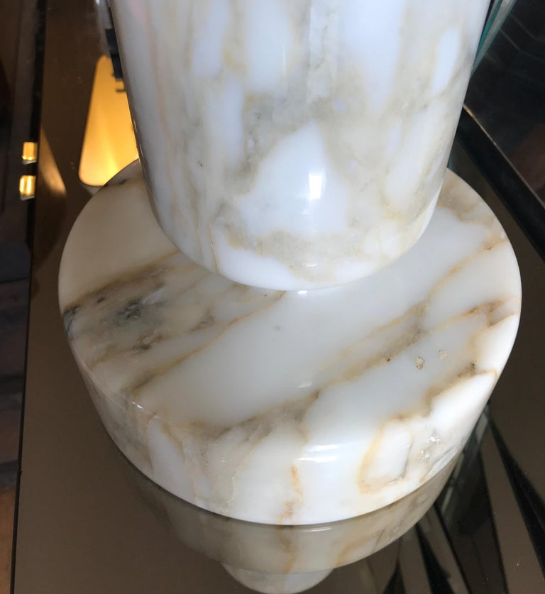 Monumental Angelo Mangiarotti Onyx Vessel Bowl Centerpiece for Knoll For Sale 3