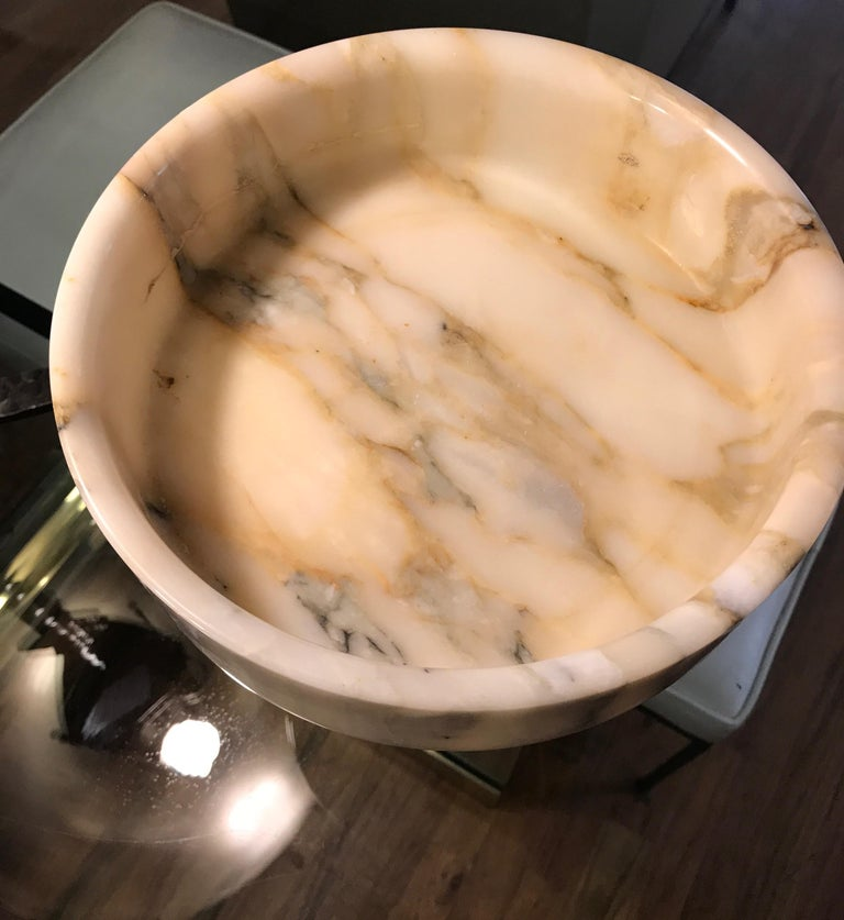 Monumental Angelo Mangiarotti Onyx Vessel Bowl Centerpiece for Knoll For Sale 8