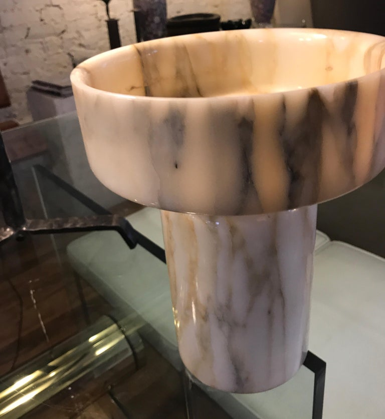 Monumental Angelo Mangiarotti Onyx Vessel Bowl Centerpiece for Knoll For Sale 9