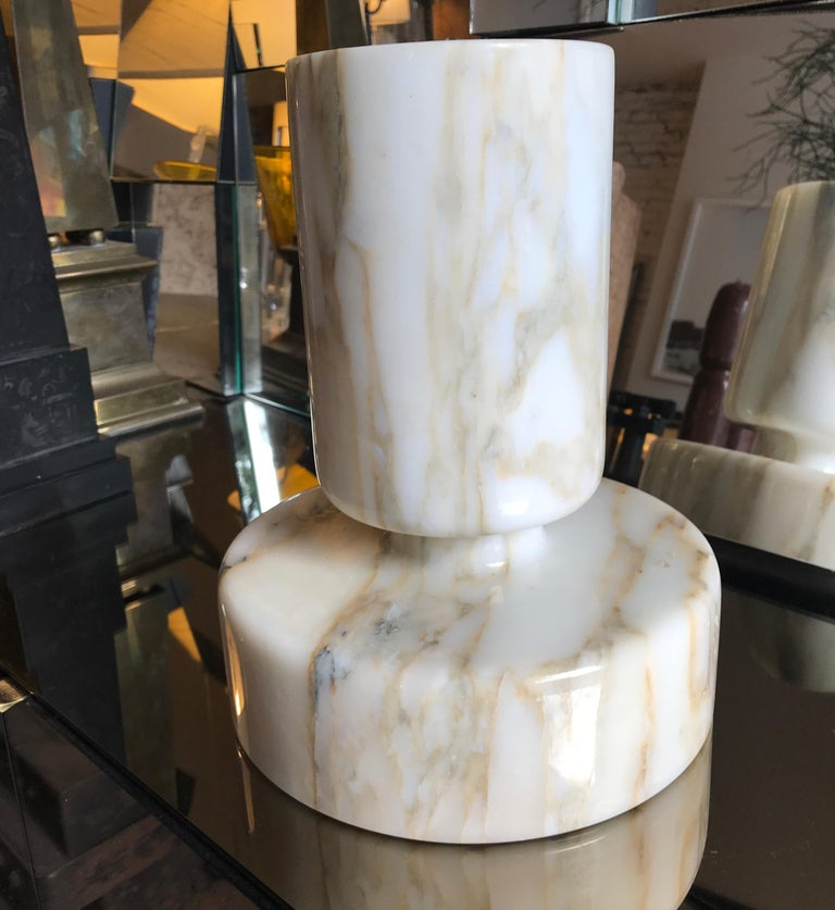 Mid-20th Century Monumental Angelo Mangiarotti Onyx Vessel Bowl Centerpiece for Knoll For Sale