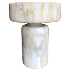 Monumental Angelo Mangiarotti Onyx Vessel Bowl Centerpiece for Knoll