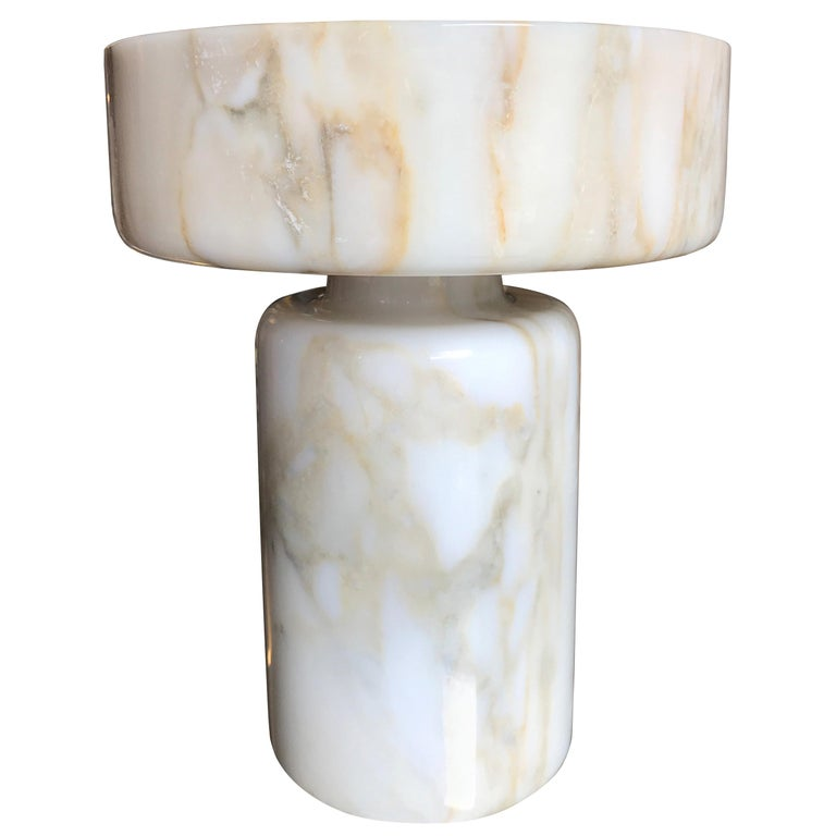 Monumental Angelo Mangiarotti Onyx Vessel Bowl Centerpiece for Knoll For Sale