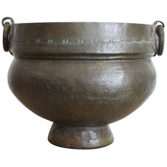 Monumental Antique Anglo-Indian Brass Vessel