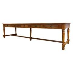 Monumental Antique Monastery Table