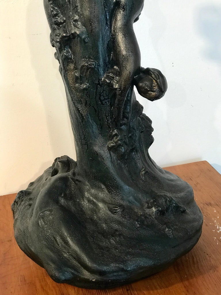 Monumental Art Nouveau Amphora Teplitz Mermaid Vase For Sale 4