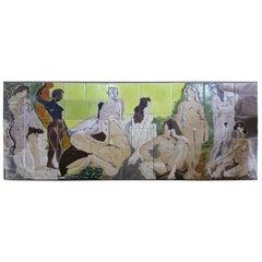 "Monumental Art Tile Signed ""Fran"" by Fran Williams Wagner"