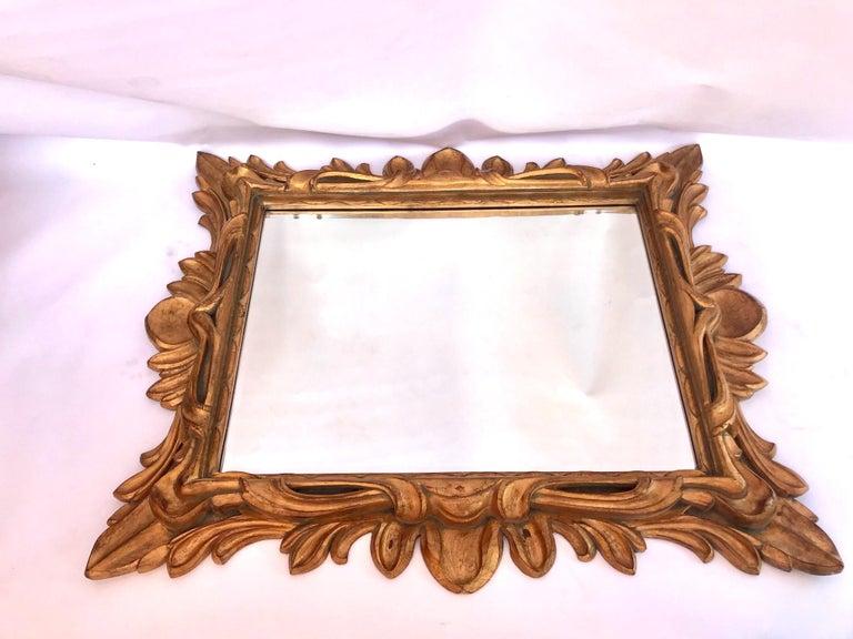 Monumental Baroque Gold Leaf Mirror with Ornate Carved Frame For Sale 5