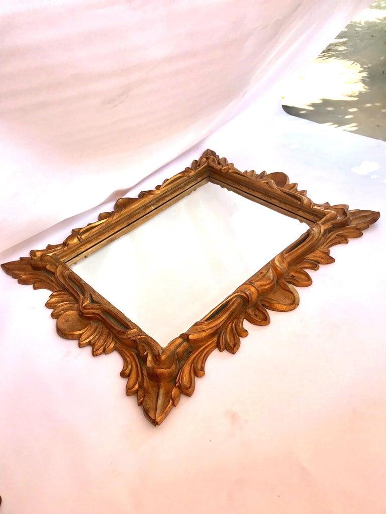 Monumental Baroque Gold Leaf Mirror with Ornate Carved Frame For Sale 6