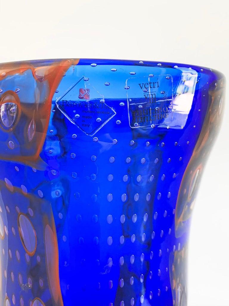 Monumental Barovier e Toso Murano Modern Glass Vase For Sale 1