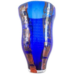 Monumental Barovier e Toso Murano Modern Glass Vase