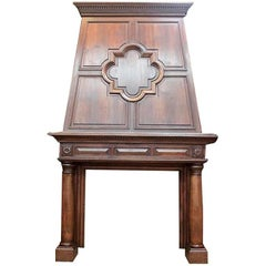 Antique Beech-Wood Fireplace, 19th. century, in stock