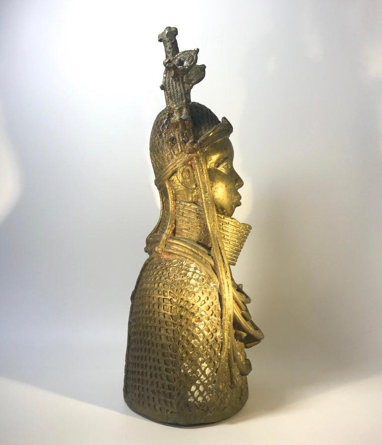Beninese Monumental Benin King Oda of Nigeria West African, Midcentury Tribal Figure