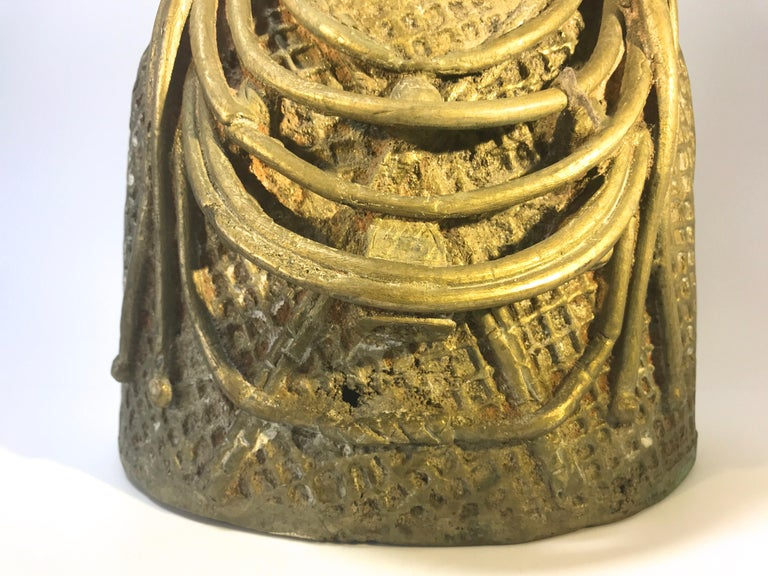 Monumental Benin King Oda of Nigeria West African, Midcentury Tribal Figure 1