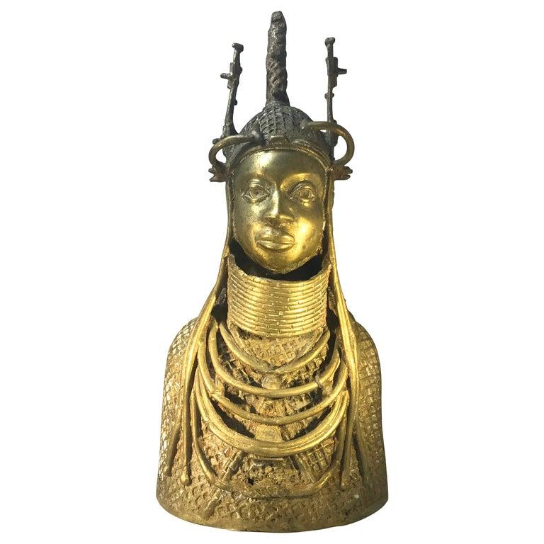 Monumental Benin King Oda of Nigeria West African, Midcentury Tribal Figure