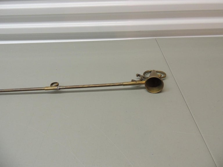 Monumental Brass Candle Snuffer In Good Condition For Sale In Oakland Park, FL