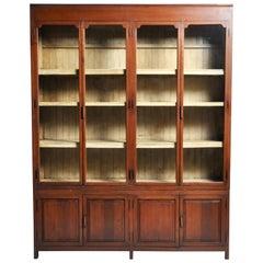 Monumental British Colonial Bookcase