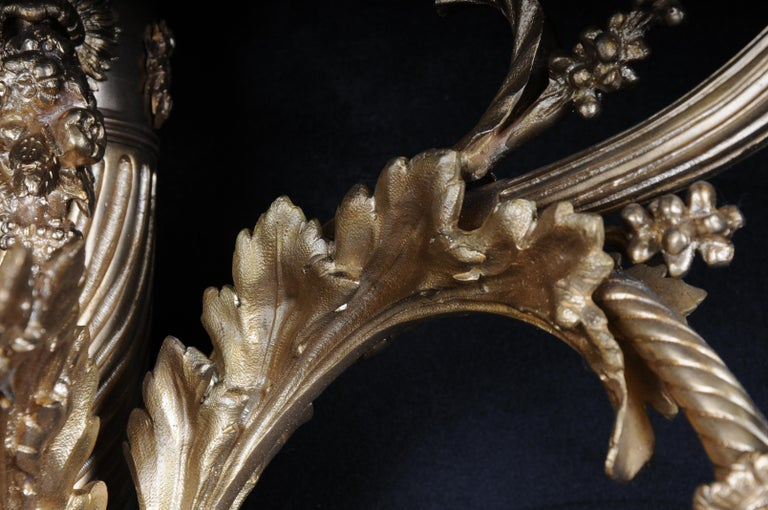 Monumental Bronze Applique, Sconce Louis XVI Style For Sale 6