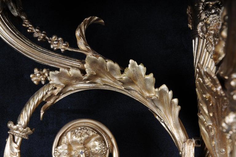 Monumental Bronze Applique, Sconce Louis XVI Style For Sale 8