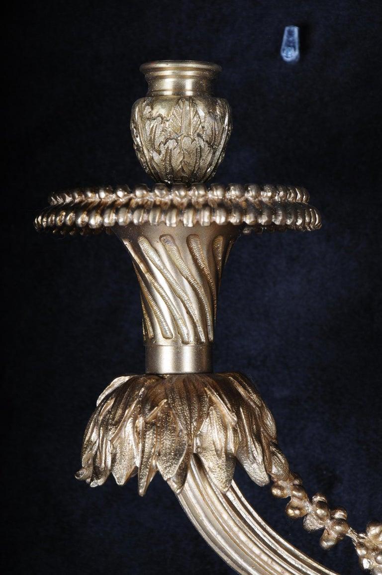 Monumental Bronze Applique, Sconce Louis XVI Style For Sale 9