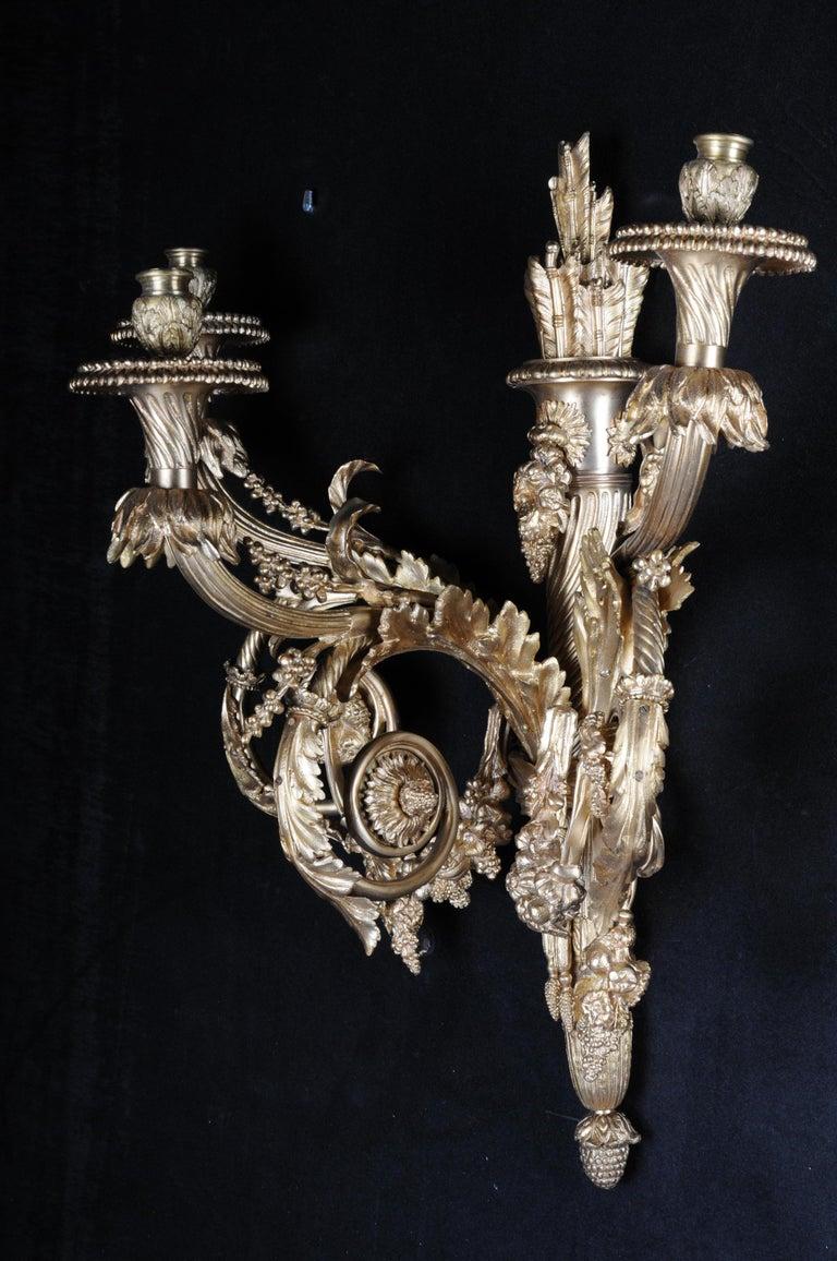 Monumental Bronze Applique, Sconce Louis XVI Style For Sale 11