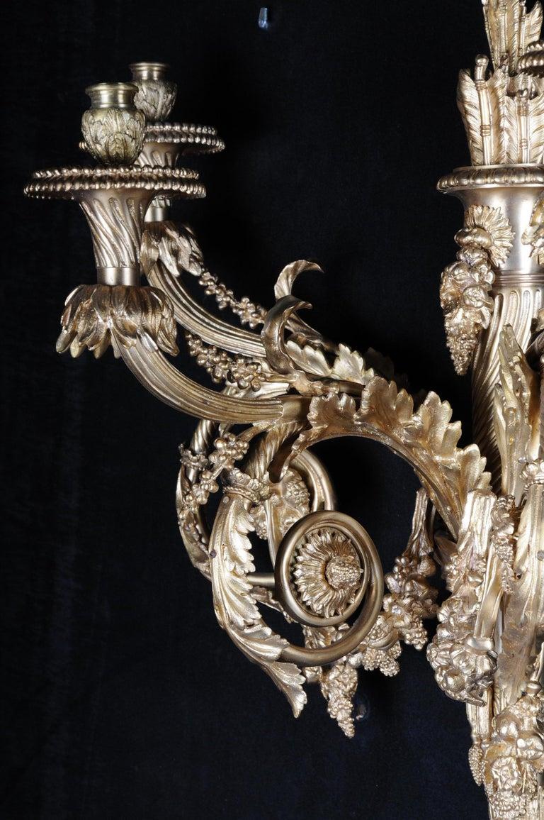 Monumental Bronze Applique, Sconce Louis XVI Style For Sale 12