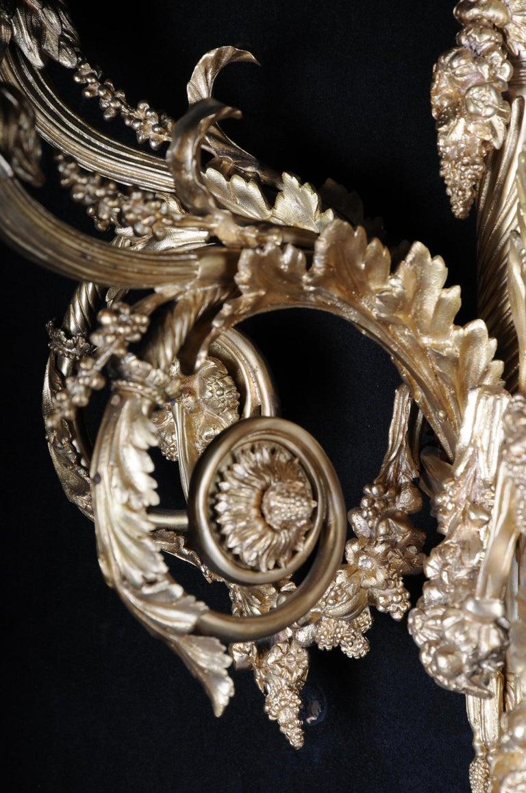 Monumental Bronze Applique, Sconce Louis XVI Style For Sale 13
