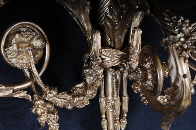 Monumental Bronze Applique, Sconce Louis XVI Style In Good Condition For Sale In Berlin, DE