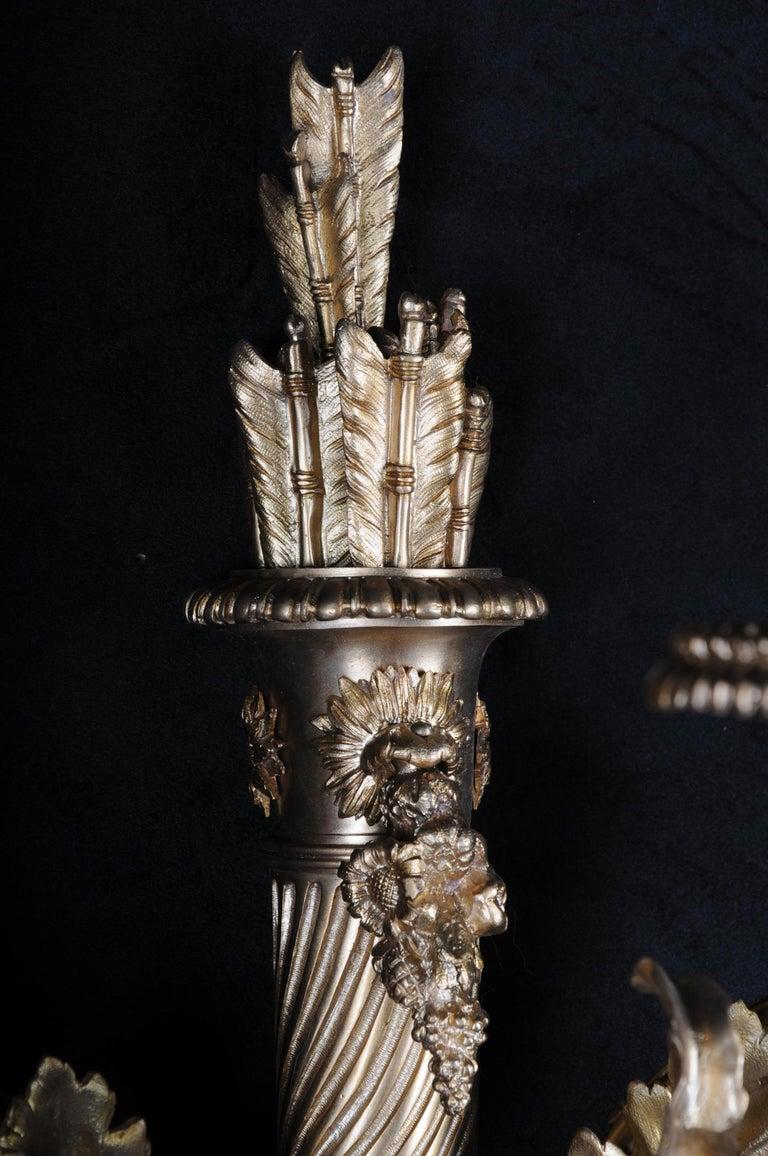 20th Century Monumental Bronze Applique, Sconce Louis XVI Style For Sale