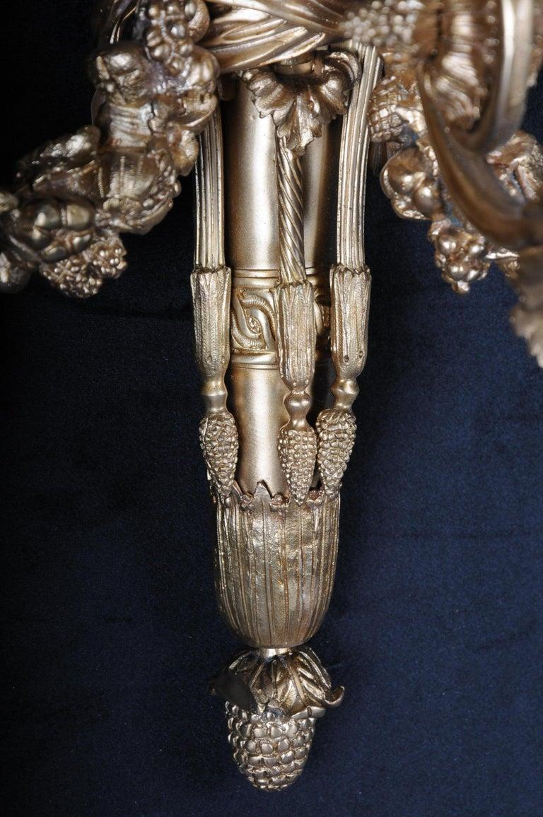 Monumental Bronze Applique, Sconce Louis XVI Style For Sale 1