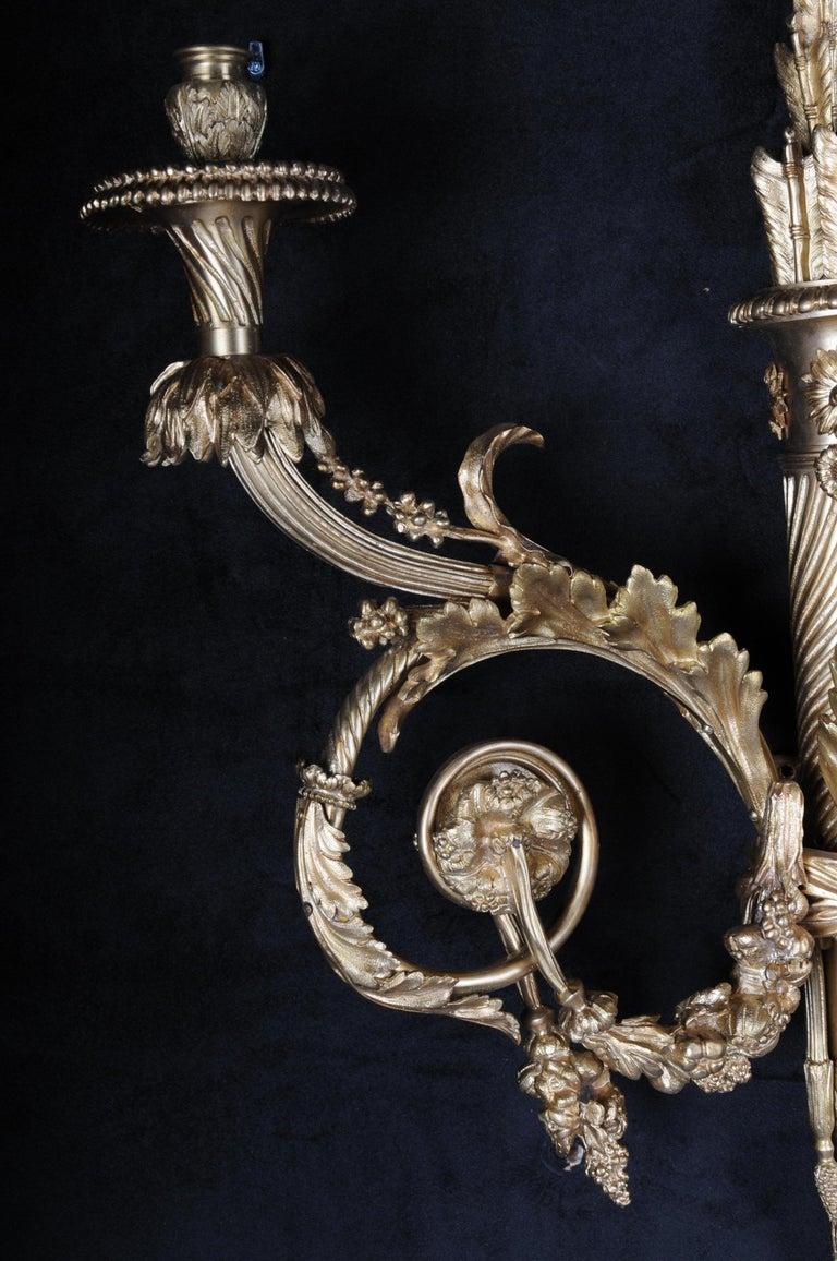 Monumental Bronze Applique, Sconce Louis XVI Style For Sale 2