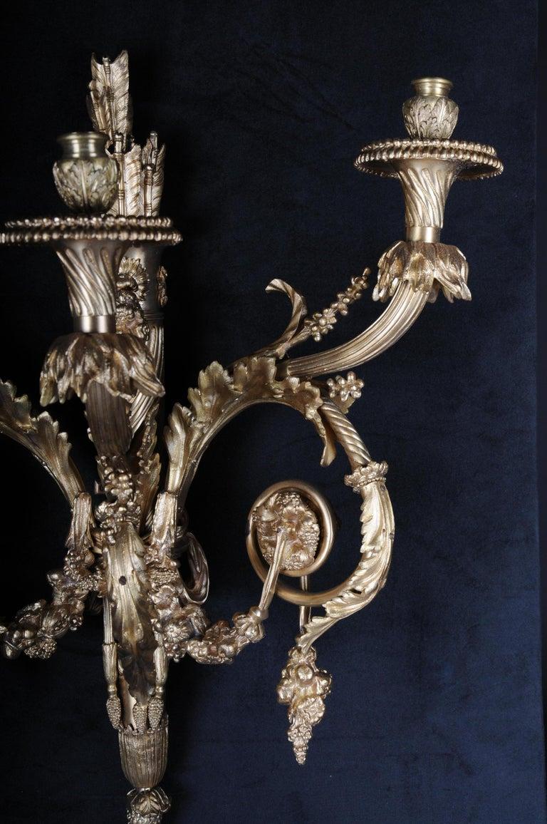 Monumental Bronze Applique, Sconce Louis XVI Style For Sale 3
