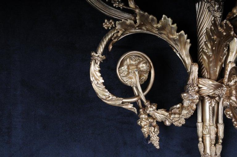 Monumental Bronze Applique, Sconce Louis XVI Style For Sale 4