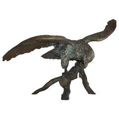 Monumental Bronze Eagle Sculpture