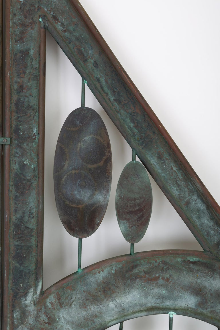 Mid-Century Modern Monumental Bronze Kinetic Sculpture For Sale