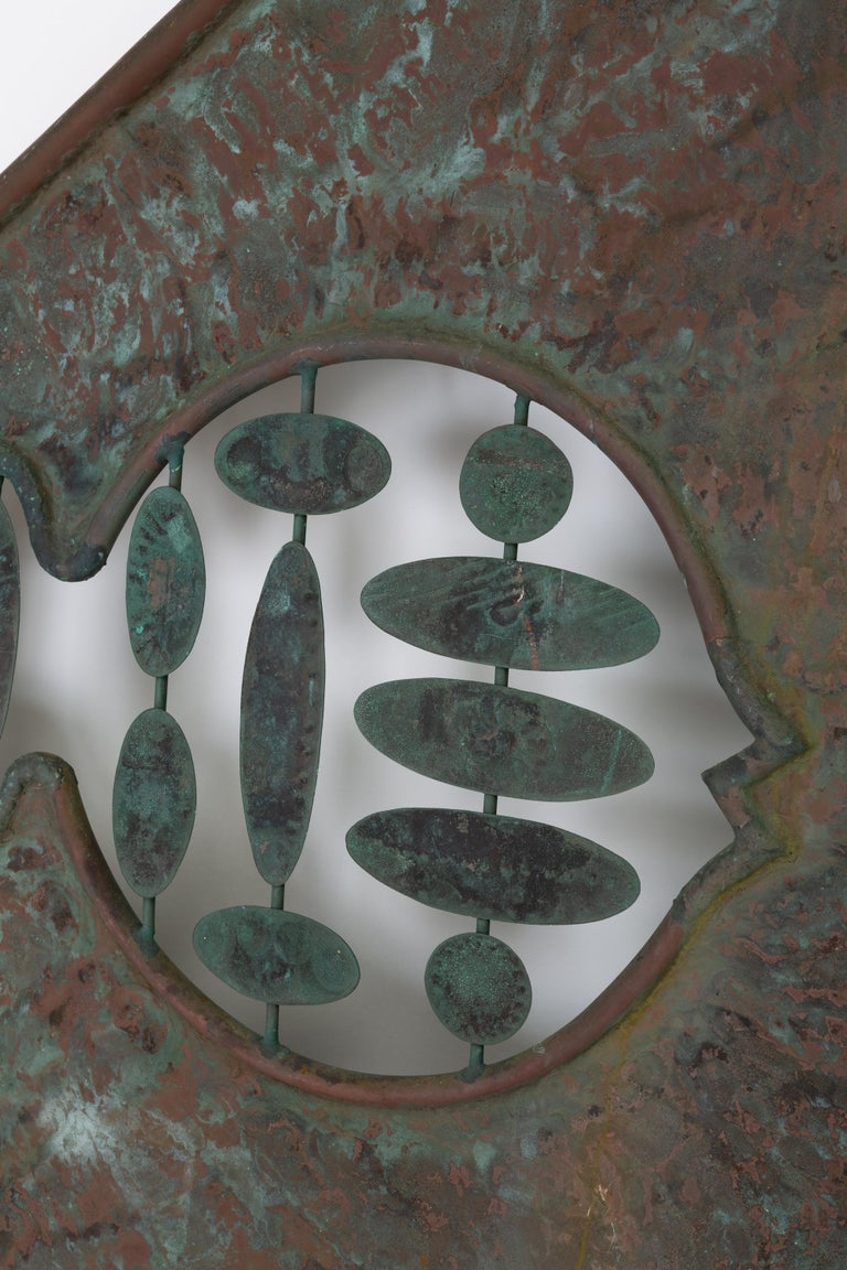 American Monumental Bronze Kinetic Sculpture For Sale