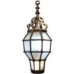 Monumental Bronze Port Cochère Lantern