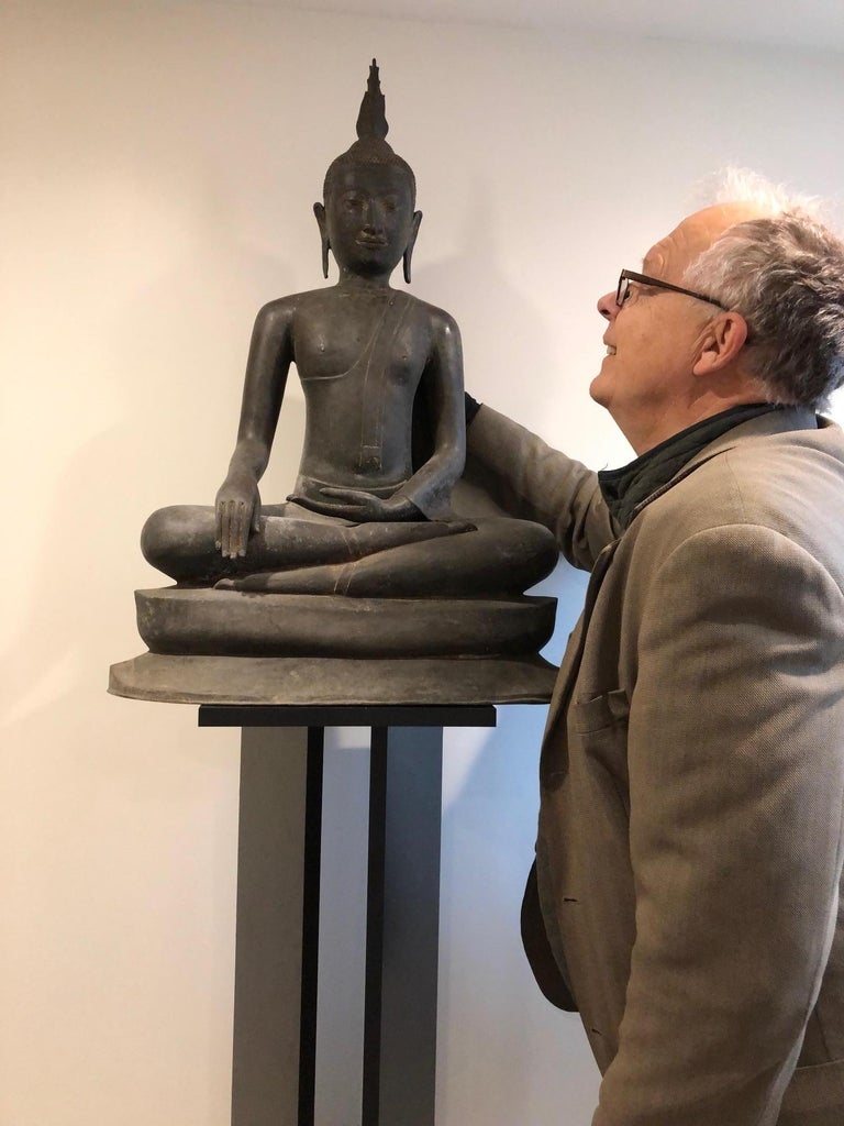 From a fifty year old UK Buddhist collection comes one of our tallest Buddhas, 33