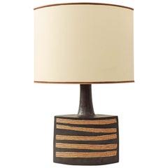 Monumental Bruno Gambone Glazed Ceramic Earthenware Table Lamp, Italy, 1970s