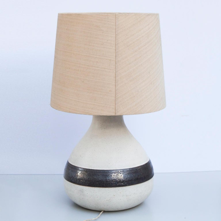 Mid-Century Modern Monumental Bruno Gambone Stoneware Table Lamp, Italy, 1980s For Sale