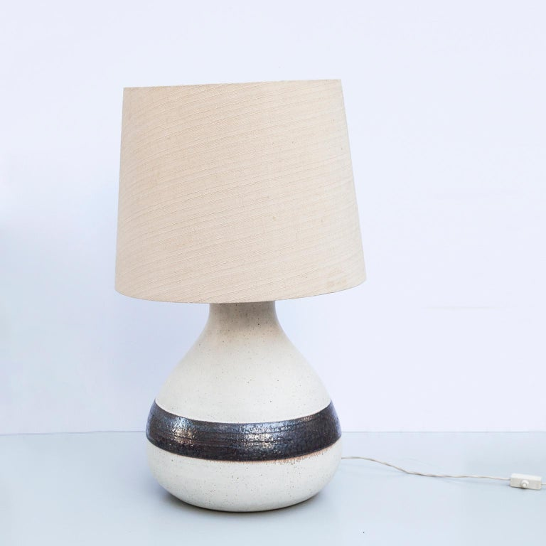 Monumental Bruno Gambone Stoneware Table Lamp, Italy, 1980s In Good Condition For Sale In Munich, DE