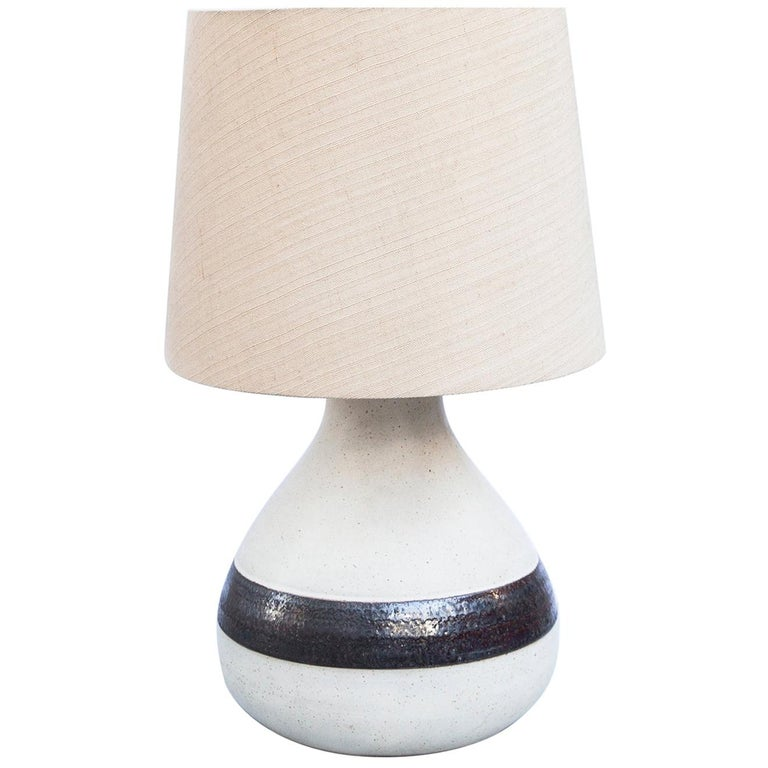 Monumental Bruno Gambone Stoneware Table Lamp, Italy, 1980s For Sale