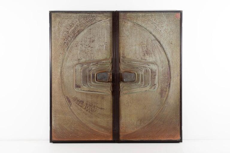 German Monumental Brutalist Exterior Doors from Craig Ellwood House For Sale