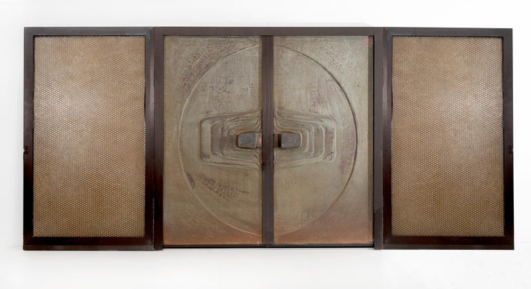 Monumental Brutalist Exterior Doors from Craig Ellwood House In Good Condition For Sale In Chicago, IL