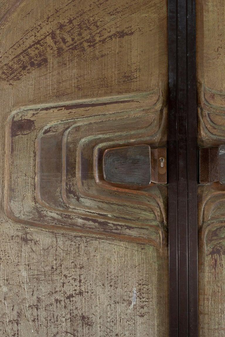Monumental Brutalist Exterior Doors from Craig Ellwood House For Sale 3