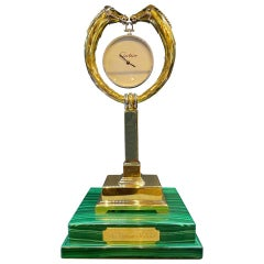 "Monumental Cartier Gold Horse Trophy Clock, ""The Cartier Million"""